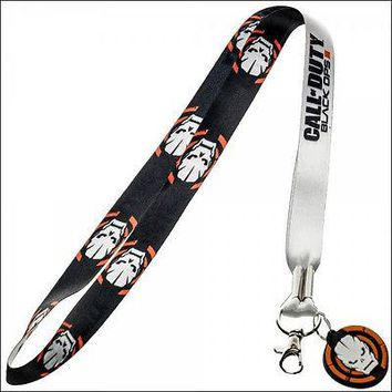 Call of Duty Black Ops III 3 Lanyard Necklace Keychain ID Holder with Charm NEW