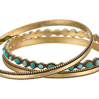 Lucky Brand Turquoise Beaded Bangle Bracelet