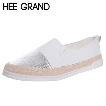 HEE GRAND Glitter Loafers 2017 Summer Slip On Flats Fisherman Shoes Woman Casual Sprin