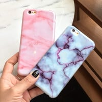 Unique Marble Pink iPhone 5 5S SE 6 6s Plus Case Gift + Free Gift Box