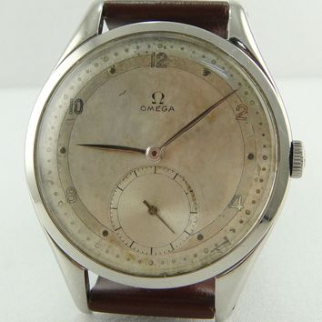 Authentic Omega Big Size 38mm Stainless Steel Cal: 265 Watch Ref 2580-1