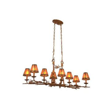 Kalco Lighting 3038PD-S205 Ponderosa  Eight-Light Rectangular Chandelier