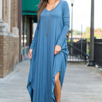 Nothing But Time Maxi Dress, Snorkel Blue