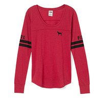 Long Sleeve Football Tee - PINK - Victoria's Secret