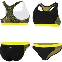 Speedo Women's Wavy Water Swirl Splice Racerback 2-Piece Swimsuit - Dick's Sporting Goods
