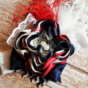Lady Liberty boutique headband-Persnickety Summer Celebration-4th of July-couture headband-red white & navy-WDW-Independence Day-photo prop