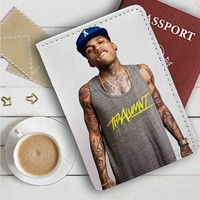 Kid Ink Tattoo Leather Passport Wallet Case Cover