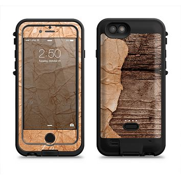 The Vintage Paper-Wrapped Wood Planks Apple iPhone 6/6s LifeProof Fre POWER Case Skin Set