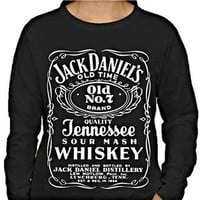 JACK DANIELS LONG SLEEVE SHIRT SWEATER LIGHTWEIGHT DESIGN SALE OFFER