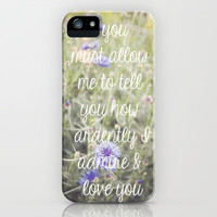 A morning walk to Meryton - Jane Austen - Pride & Prejudice - iPhone & iPod Case by CMcDonald