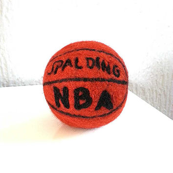 SHIP FREE,handmade,toy, antistres,basketball felted ball
