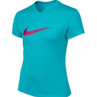 Nike Girls' Legend Printed V-Neck Graphic T-Shirt - Dick's Sporting Goods