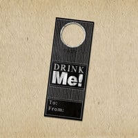 Custom Wine Tags for any Occasion or Event - Wedding, New Baby, Birthday - Blackboard- Gift Tag - Drink ME