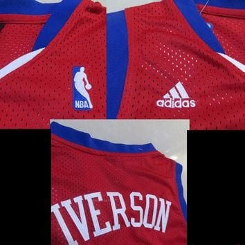 Allen Iverson 3 Philadelphia Sixers 76ers Super Rare New Throwback NBA Jersey Iverson