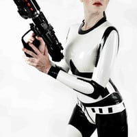 Star Wars Stormtrooper Inspired Rubber Latex Catsuit