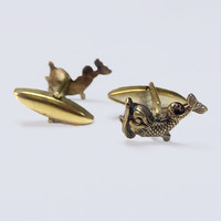 Mythic Creatures Dolphin Cuff Links