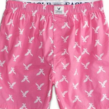 AEO Men's Eagles Boxer (Pink)