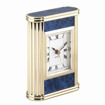 Personalized Free Engraving Marble Finish Desk Clock