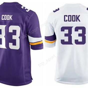 2017 Men 33 Dalvin Cook Jersey Draft Pick For Sport Fans Dalvin Cook Football Jerseys American All Stitching Team Purple White