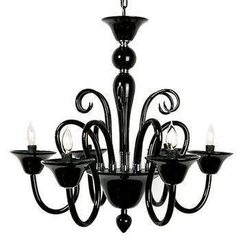Calais Chandelier - Black | Hanging Lamps | Lighting | Decor | Z Gallerie