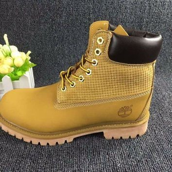 ESBON Timberland Rhubarb Boots Wheat color 2018 Waterproof Martin Boots