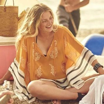 New Beach Cover Ups coat is not positioning clipping design chiffon loose smock dresses beach holiday