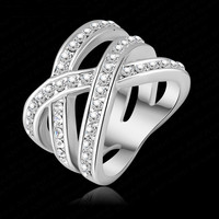 Platinum Plated Austrian Crystal Luxury Women Ring
