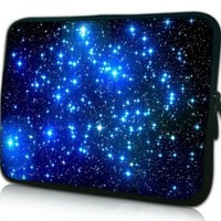 13 Inch Endless Universe With Twinkling Blue Stars DOUBLE Sided Print Design Laptop Slipcase Bag Netbook Sleeve Cover Notebook Carrying Case for Macbook Air Macbook Pro Acer Asus Dell HP Sony Toshiba:Amazon:Computers & Accessories