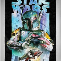 Star Wars Boba Fett Universe Fleece Blanket - Spencer's