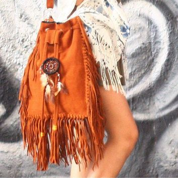 """Summer Dreams"" Oversized Fringe Bucket Bag"