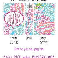 Personalized Lilly Pulitzer Binder Cover Printable Package