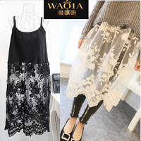 Womens Boho Knit and Lace Spring/ Summer Dress , Long Shirt