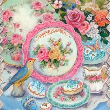 Susan Rios Easter Tea Mini Art