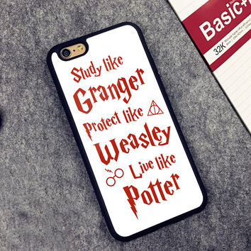 Harry Potter inspired Printed Soft Rubber Mobile Phone Cases For iPhone 6 6S Plus 7 7 Plus 5 5S 5C SE 4 4S Cover Skin Shell