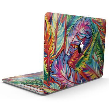 Vibrant Colorful Feathers - MacBook Pro with Touch Bar Skin Kit