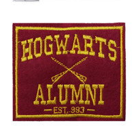 Hogwarts Alumni Iron / Sew On Embroidered Patch Harry potter Badge Embroidery | eBay