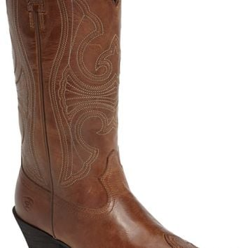Ariat Round Up D-Toe Wingtip Western Boot (Women) | Nordstrom