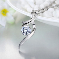 Pendant 925 Sterling Silver Lucky Angel Soft Key Necklace