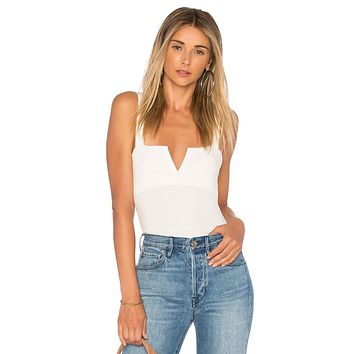 Free People Pippa V-Wire Bodysuit Ivory