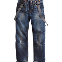 H&M - Relaxed Jeans - Dark denim blue - Kids