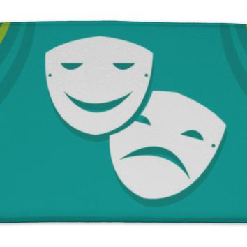 Bath Mat, Symbol Of Sadness And Happiness In Acting Or Theatre Arts