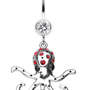 Octopus Sparkle Belly Button Ring