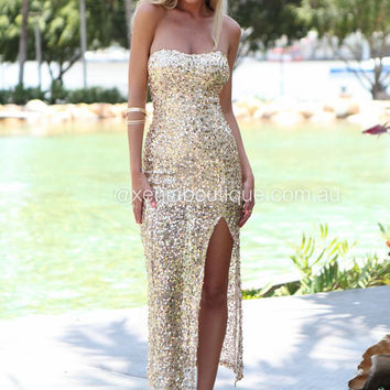Miss Holly Sequin Maxi Dress