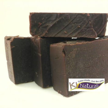 Chocolate shampoo bar. Decadent, sulfate-free and moisturizing with shea butter, organic coconut oil. Smells just like rich milk chocolate!