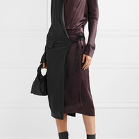 Haider Ackermann - Two-tone satin-crepe wrap dress