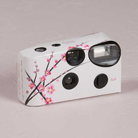 Cherry Blossoms in Spring Single Use Camera for Wedding Reception or Party