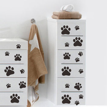 shop paw print wall decals on wanelo pin home paw print wall decals on pinterest