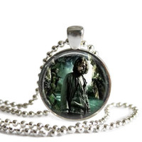 Harry Potter Necklace Sirius Black Silver Plated Picture Pendant