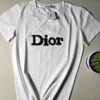 DIOR Womens Cotton T-shirt