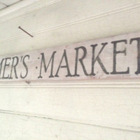 Rustic Farmers Market Wood Sign by GreenButtonCrafts on Etsy